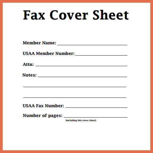 fax cover blank fax cover sheet