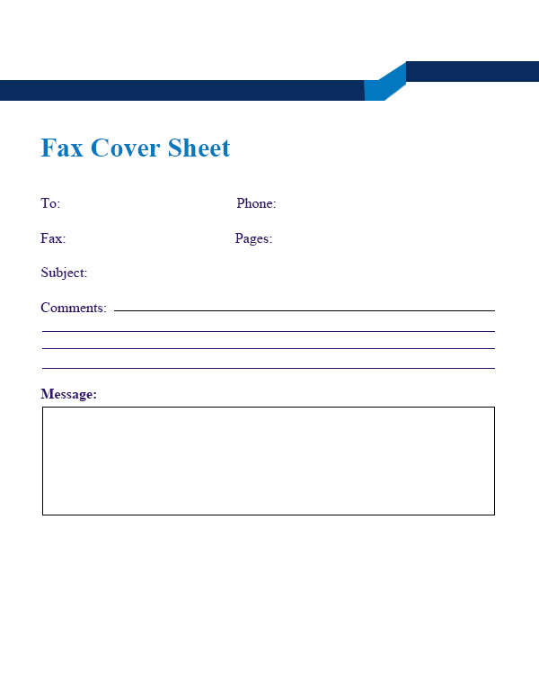 blank fax cover sheet free