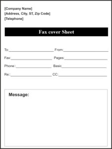 blank fax cover sheet word