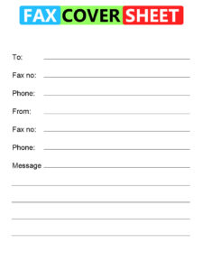 Basic Fax Cover Sheet Template Printable