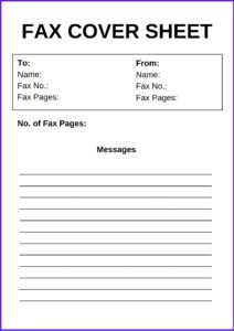 Free Business Fax Cover Sheet