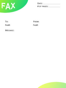Free IRS fax cover sheet