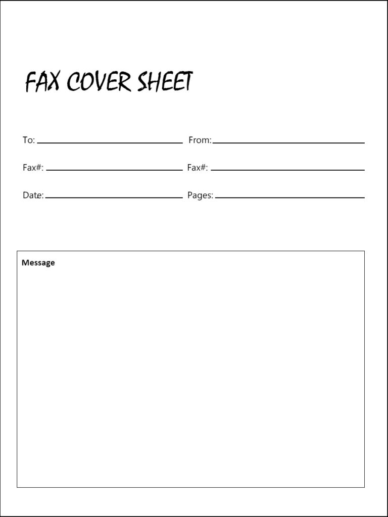 Free Printable Holiday Fax Cover Sheet