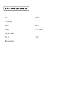 Government Fax Cover Sheet