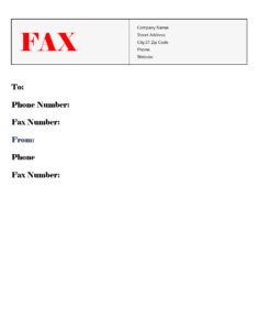 Government Fax Cover Sheet template