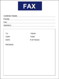 IRS fax cover sheet template