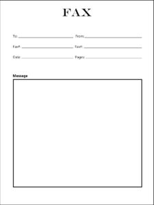 Printable Holiday Fax Cover Sheets