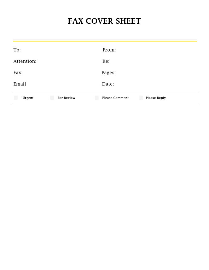 professional fax cover sheet template
